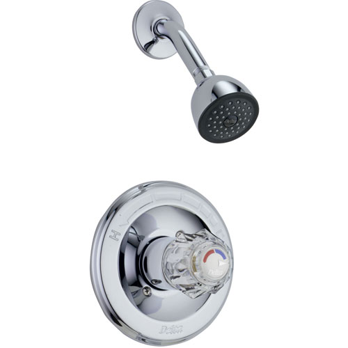 Delta Classic Chrome Single Knob Pressure Balanced Shower Control w/ Valve D620V