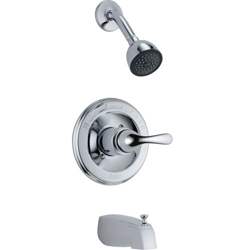 Delta Classic Chrome Tub and Shower Combination Faucet Includes Valve D291V