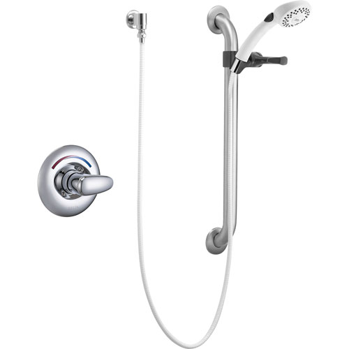 Delta Core Chrome Universal Shower Trim with Handheld Shower and Grab Bar 540328