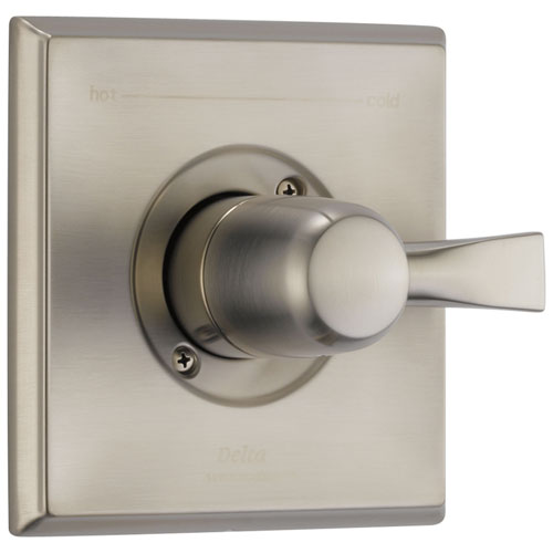 Delta Dryden Collection Stainless Steel Finish Monitor 14 Single Handle Shower Faucet Valve Only Control Includes Rough-in Valve with Stops D2510V
