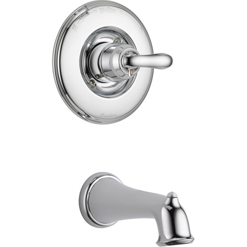 Delta Linden Chrome Single Handle Tub Only Faucet with Rough-in Valve D214V