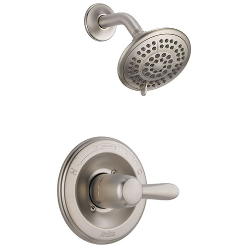 Delta Lahara Single Handle Stainless Steel Finish Shower Only Faucet Trim 338173