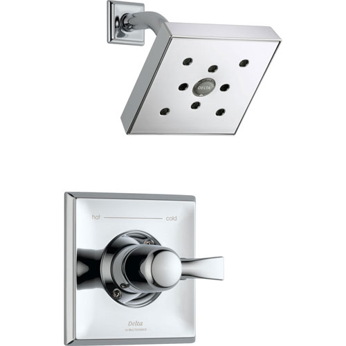 Delta Dryden Chrome Large Modern Square Shower Only Faucet Trim Kit 573189