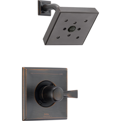 Delta Dryden Venetian Bronze Large Modern Square Shower Only Faucet Trim 573190