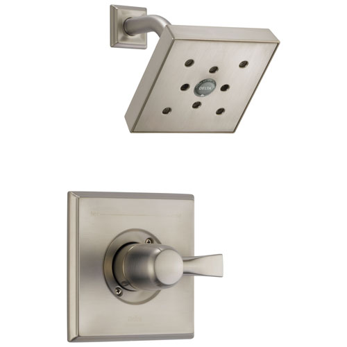 Delta Dryden Collection Stainless Steel Finish Monitor 14 H2Okinetic Single Handle Shower only Faucet Includes Rough-in Valve with Stops D2470V