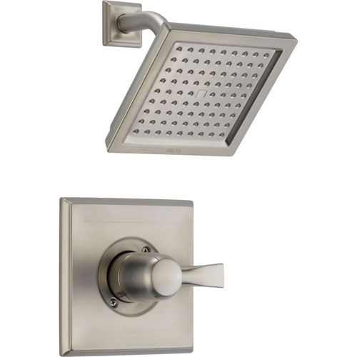 Delta Dryden Stainless Steel Finish Large Square Shower Only Faucet Trim 456073