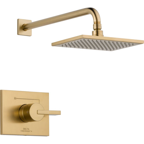 Delta Vero Champagne Bronze Large Modern Square Shower Only Faucet Trim 555942