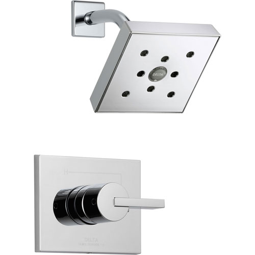 Delta Vero Chrome Modern Square Shower Only Faucet Includes Rough-in Valve D639V