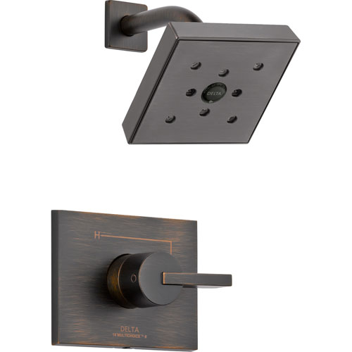 Delta Vero Venetian Bronze Modern Square Shower Only Faucet with Valve D582V