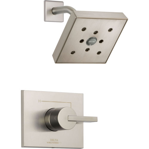 Delta Vero Stainless Steel Finish H2Okinetic Square Shower Only Trim Kit 521944