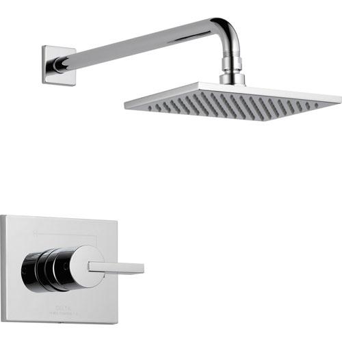 Delta Vero Chrome Large Modern Square Shower Only Faucet Trim Kit 521922