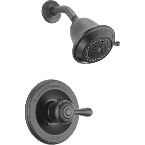 Delta Leland Single Handle Venetian Bronze Shower Only Faucet with Valve D649V