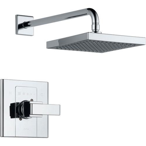 Delta Arzo Chrome Large Modern Square Shower Only Faucet Trim Kit 561030