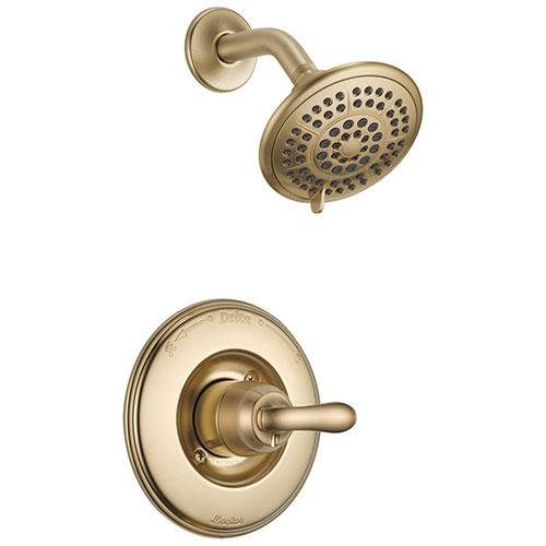 Delta Linden Champagne Bronze Single Handle Shower Only Faucet Trim Kit 555594