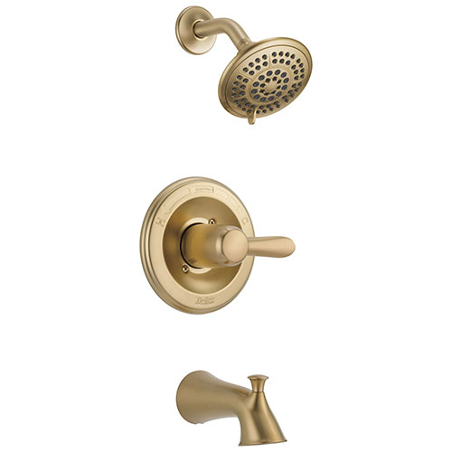 Delta Lahara Champagne Bronze Tub and Shower Combination Faucet Trim Kit 563332