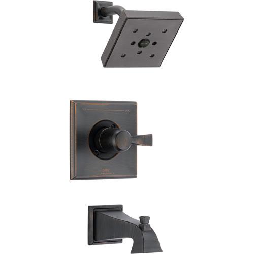 Delta Dryden Modern Square Venetian Bronze Tub and Shower Faucet w/ Valve D251V