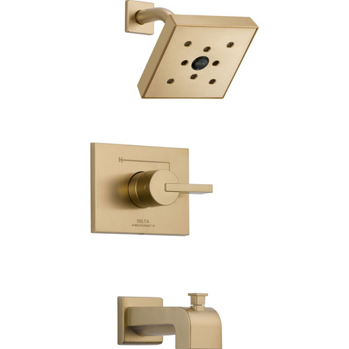 Delta Vero Modern Champagne Bronze Tub and Shower Combination Faucet Trim 564446