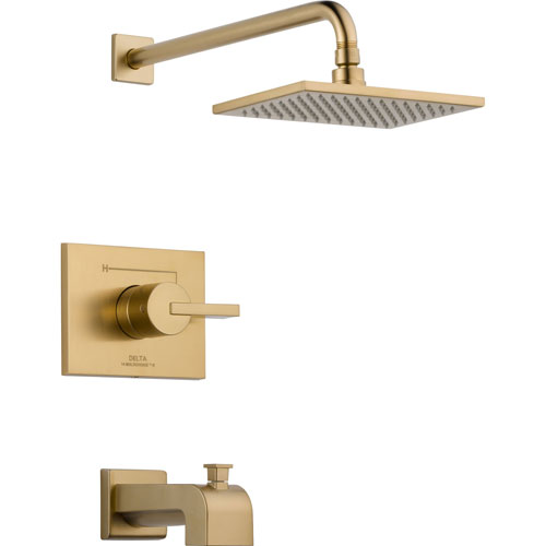 Delta Vero Modern Champagne Bronze Tub and Shower Combination with Valve D321V