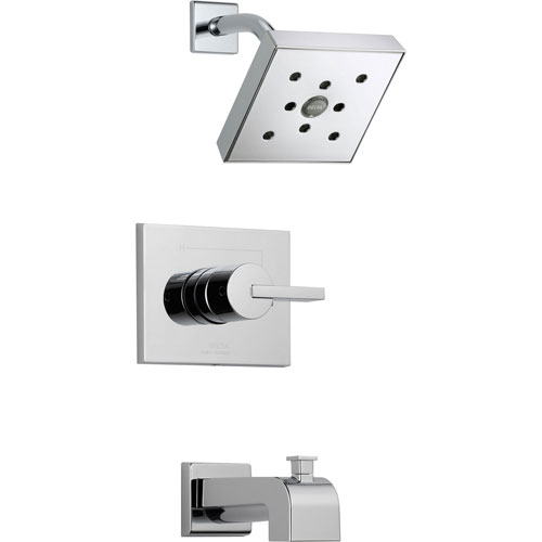 Delta Vero Modern Tub and Shower Combination Faucet Trim Kit in Chrome 521956