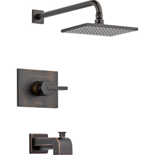Delta Vero Modern Venetian Bronze Tub and Shower Combination with Valve D258V