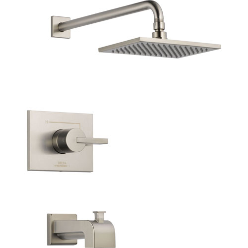 Delta Vero Stainless Steel Finish Tub and Shower Combination with Valve D260V