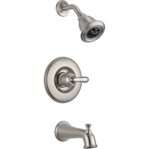 Delta Linden Stainless Steel Finish Tub and Shower Combo Faucet Trim Kit 555610