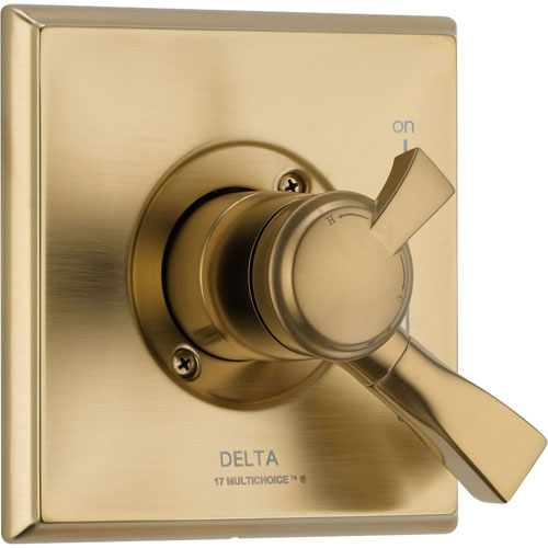 Delta Dryden Temperature and Volume Control Champagne Bronze Shower Trim 556047