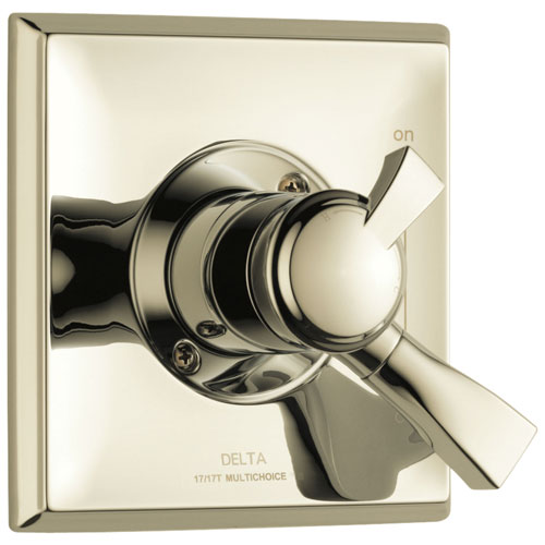 Delta Dryden Collection Polished Nickel Monitor 17 Series Dual Temp and Pressure Shower Faucet Control Valve Only Includes Rough Valve with Stops D2360V