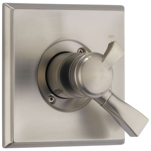 Delta Dryden Collection Stainless Steel Finish Monitor 17 Dual Temp and Pressure Shower Faucet Control Valve Only Includes Rough Valve with Stops D2358V