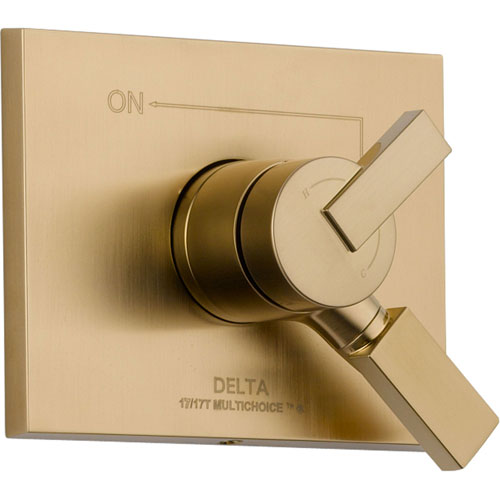 Delta Vero Temperature & Volume Control Champagne Bronze Shower with Valve D084V