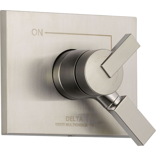 Delta Temperature & Volume Control Stainless Steel Finish Shower w/ Valve D123V