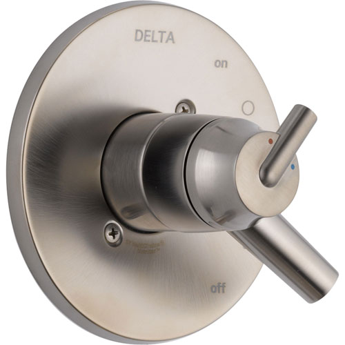 Delta Trinsic Two Handle Stainless Steel Finish Shower Control Trim Kit 590167