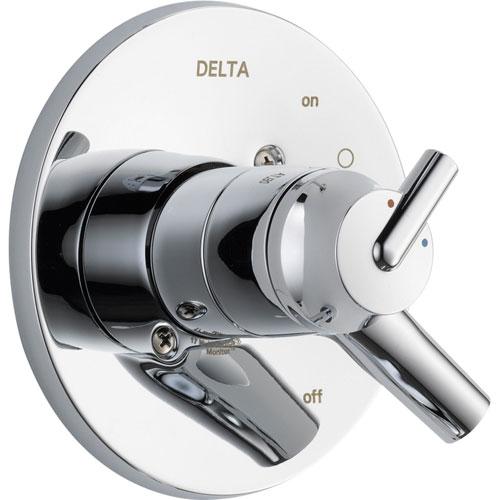 Delta Trinsic Two Handle Chrome Shower Faucet Control, Includes Valve D087V