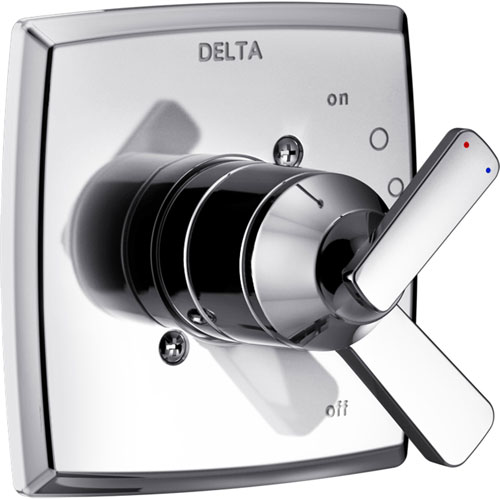 Delta Ashlyn Modern Chrome Finish 17 Series Dual Temperature and Pressure Shower Faucet Control INCLUDES Rough-in Valve D1156V