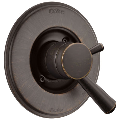 Delta Linden Collection Venetian Bronze Monitor 17 Dual Control Valve Only Trim Kit for Shower Faucet Includes Rough Valve with Stops D2350V