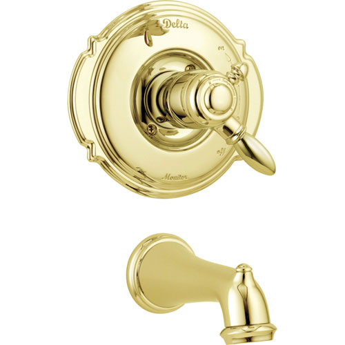 Delta Victorian Polished Brass Temp/Volume Control Tub Filler with Valve D224V