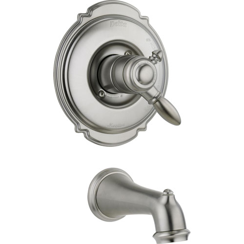 Delta Victorian Stainless Steel Finish Temp/Volume Control Tub Trim Kit 476412