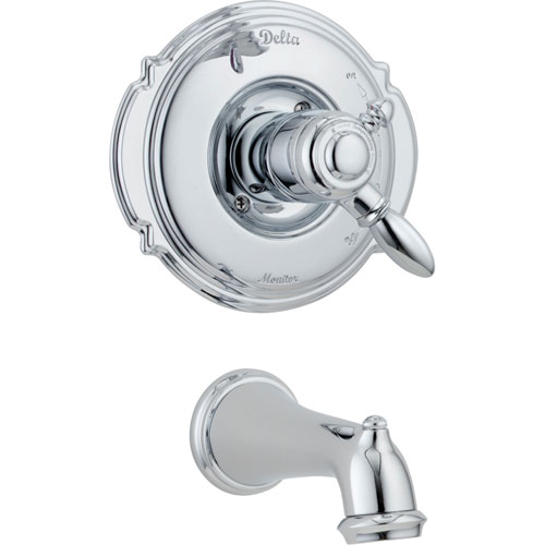Delta Victorian Chrome 2-Handle Temp/Volume Control Tub Filler with Valve D222V