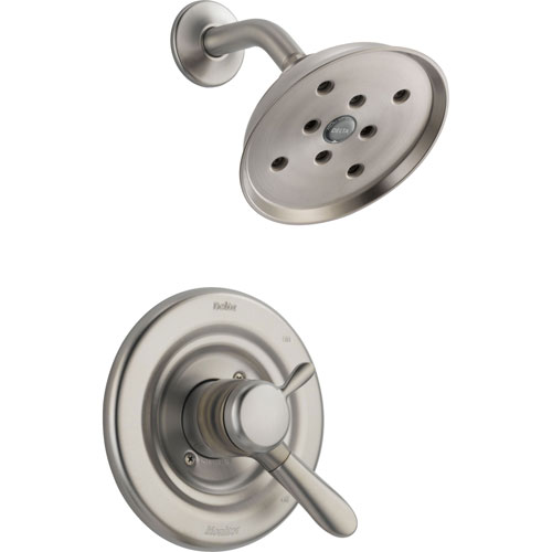 Delta Lahara Stainless Steel Finish Dual Control Shower Faucet with Valve D798V