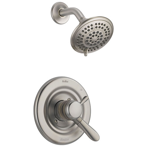 Delta Lahara Stainless Steel Finish Temp/Volume Control Shower Trim Kit 338273