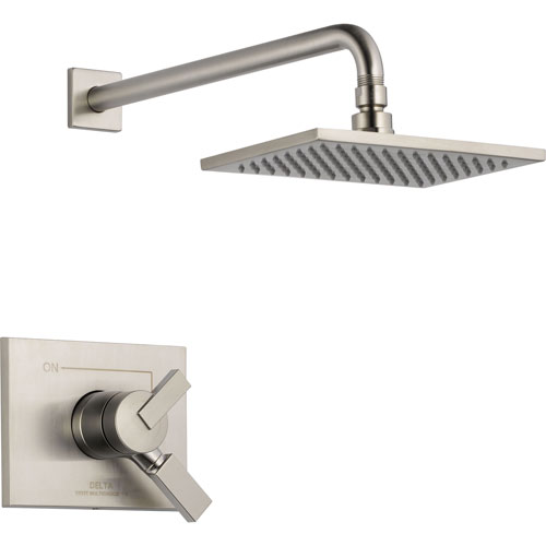 Delta Vero Stainless Steel Finish Temp/Volume Control Shower with Valve D692V