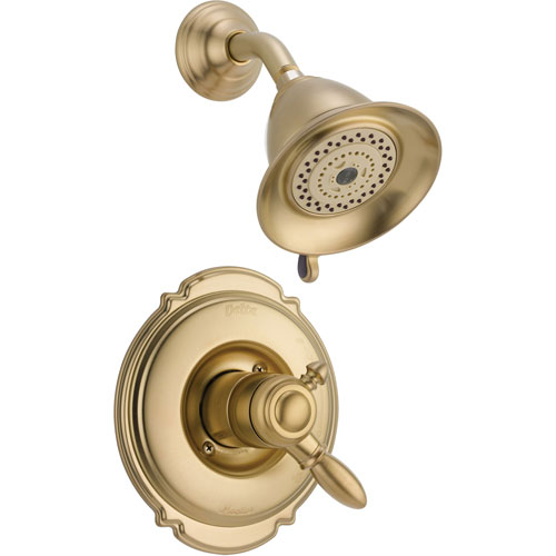 Delta Victorian Dual Control Temp/Volume Champagne Bronze Shower Trim Kit 556024