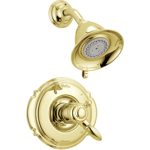 Delta Victorian Dual Control Temp/Volume Polished Brass Shower Trim Kit 778973