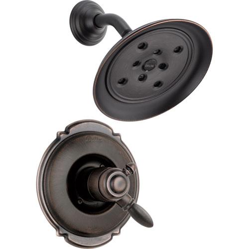 Delta Victorian Dual Control Temp/Volume Venetian Bronze Shower with Valve D765V