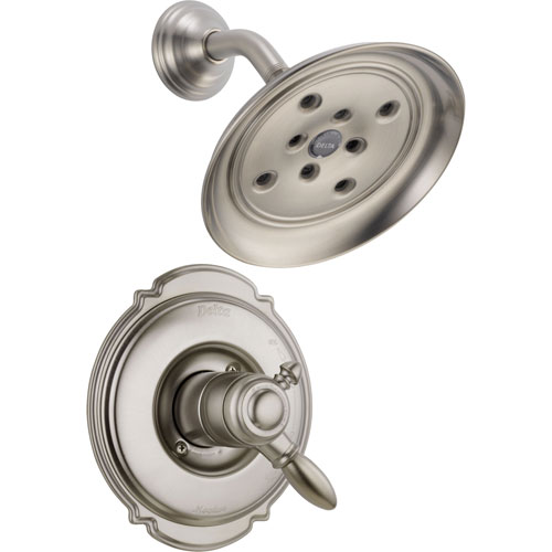 Delta Victorian Dual Control Stainless Steel Finish Shower Faucet w/ Valve D797V