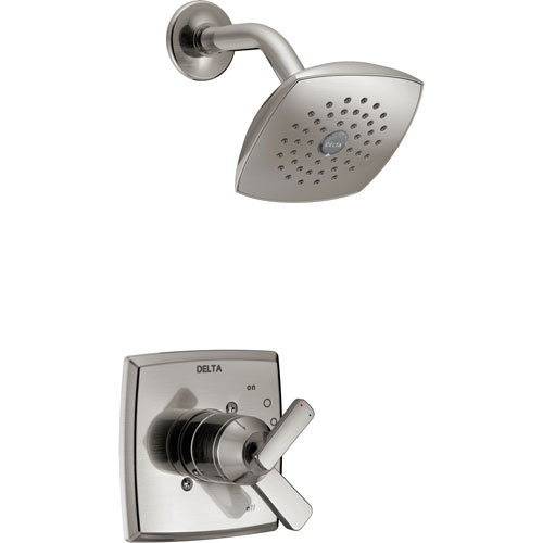 Delta Ashlyn Stainless Steel Finish Monitor 17 Series Shower Only Faucet with Dual Temperature and Pressure Control INCLUDES Rough-in Valve D1134V