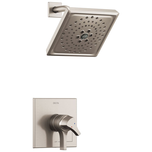 Delta Zura Collection Stainless Steel Finish Modern Dual Temperature and Pressure Shower only Faucet Control Handle Trim (Requires Valve) 743929