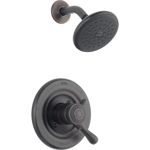 Delta Leland Dual Control Temp/Volume Venetian Bronze Shower with Valve D775V