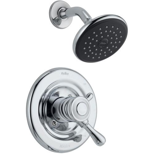 Delta Leland Chrome Temp/Volume Dual Control Shower Only Faucet with Valve D773V