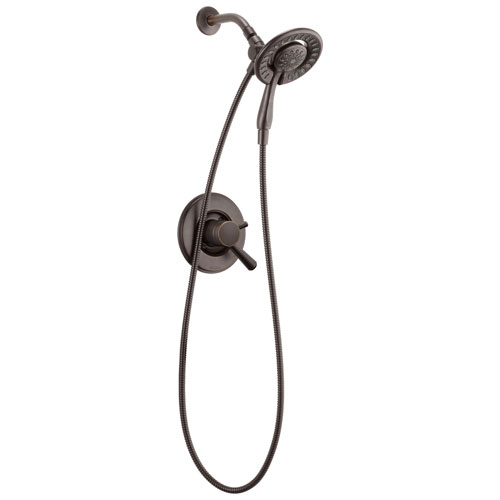 Delta Linden Collection Venetian Bronze Dual Control Shower only Faucet with Handspray and Showerhead Combo Includes Trim Kit and Rough Valve with Stops D2320V